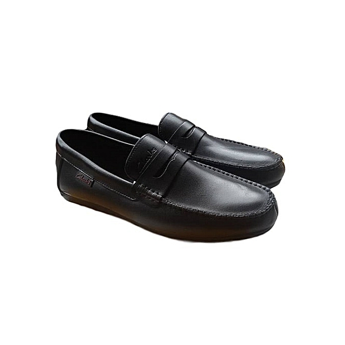 2742c014eb8 Clarks Classic Black Penny Loafer