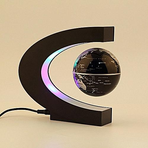 C Shape LED World Map Decoration Magnetic Levitation Floating Globe Light