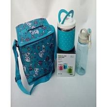 e5c147c7c3e5 Complete Set Children Lunch Pack - Unisex - Lunch Bag + Metal Plat With 2  Plastic