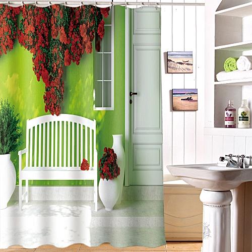 Xiuxingzi_Dtrestocy Printing Waterproof Personality Fabric Bathroom Shower Curtain L