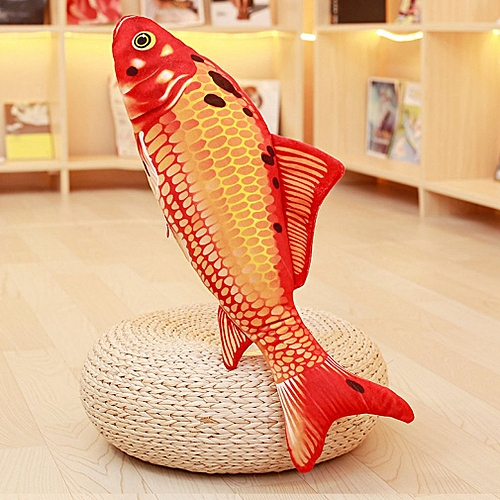 Simulation Toy Pet Fish Toy Doll 16 Cm Without Zipper Big Red Koi Colorful