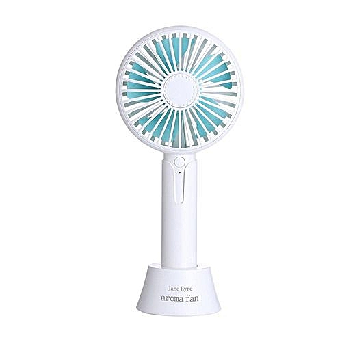 Handheld Mini Multi-functional Portable Fans- White