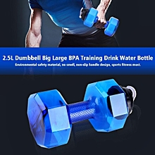 Used, Large Capacity Dumbbell Shaped Exercise Sports Water Bottle Fitness Gym Training Cup (Blue) for sale  Nigeria
