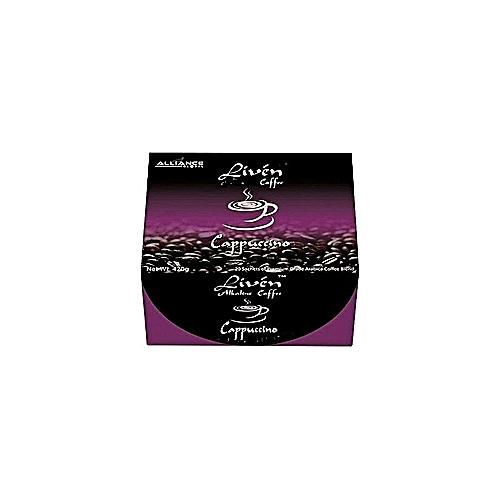 Liven Alkaline Coffee Cappuccino Flavor Purple
