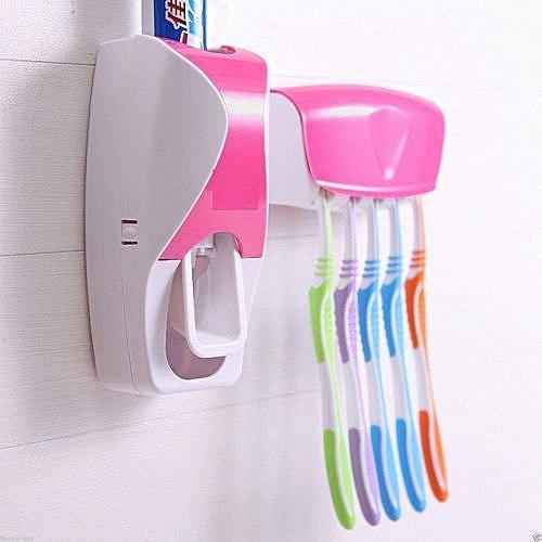 Toothpaste Dispenser And Brush Holder
