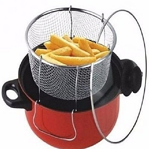 Manual Deep Fryer - Non Stick And 3-in-1(28CM.)