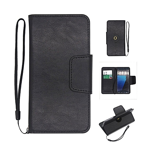 360 Degree Rotating Universal Ultra Slim Durable PU Leather Wallet Case For Gionee S10 Lite 5.2 Inch (Black)