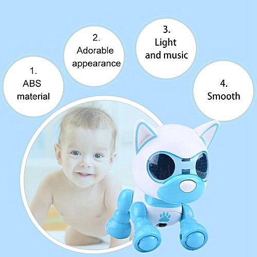 【Time-limited Promotions】Robot Dog Pet Toy Smart Kids Interactive Walking Sound Puppy LED Record Educational Gift