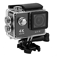 4K WIFI Action Camera Waterproof 2-inch LCD 170 Degree Remote Control WiFi Black for sale  Nigeria