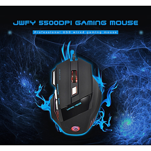 Gaming Mouse USB Wired Optical 7 Buttons - Black