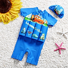 c6a50f76e86b One Piece Swimsuit For Children One Piece Swimwear Lesson Knee Swimming Suit  Safe Protective Float Buoyancy