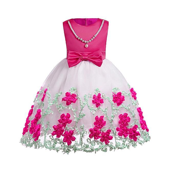 1db192125 Toddler Girl Dress Flower Summer 2018 Evening Dresses For Girls 4 5 6 7 8 9