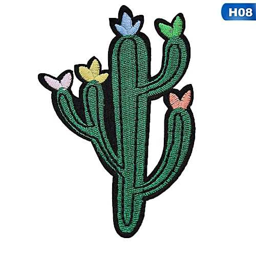 Eleganya Creativity Lovely Embroidery Plant Clothing Shoes Simple Cloth Stickers H08