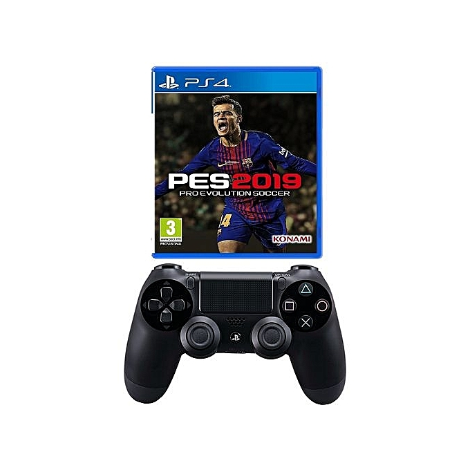 PES Pro Evolution Soccer 2019 - PlayStation 4 + PS4 Pad - Dualshock 4  Wireless Controller