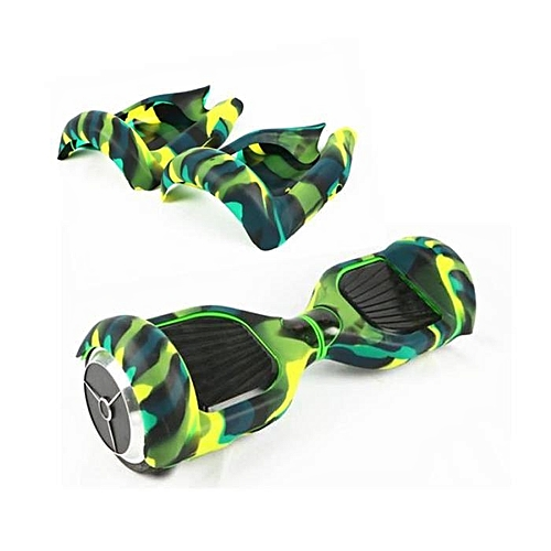 BlueLife 6.5 Inch Silicone Protective Cover For Self Balancing Scooter - Black & Green