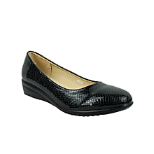 Pumps Eur 39 Fine Quality Gina Black Patent Leather Peep Toe Pumps Gr Damenschuhe