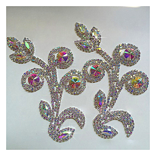 Clothing Fashion Accessories, Rhinestone Ornament, Leaf-shaped Stone Brooch For Making Of Hats, Bags, Shoes And Cloths