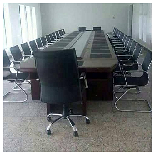 20 Seater Padded Executive Conference Table With 20 Chairs