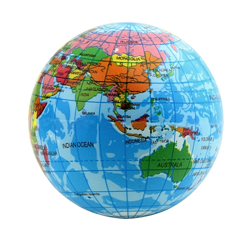 world map foam earth globe stress relief bouncy ball atlas geography toy th092