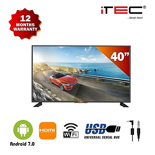 """40"""" SMART LED TELEVISION WITH ANDROID 8.0 AND FREE WALL BRACKET"""