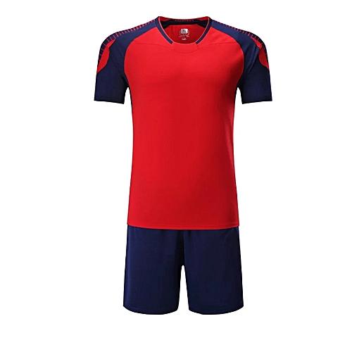 bf4abc928 Generic Men O-neck Soccer Jerseys Uniforms Set Short Sleeve New Style-Red