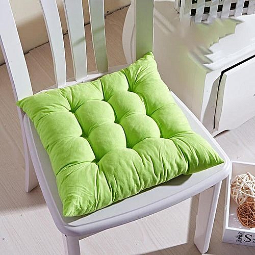 Square Thicken Dining Chair Cushion, Tatami Computer Soft Comfortable Seat Pads -BROWN 40x40CM-PEA GREEN