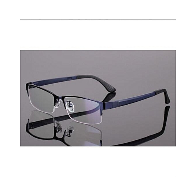 5cd491d591c Men Women Metal Half Rimless Glasses Optical Eyeglasses Frame Spectacles  Eyewear
