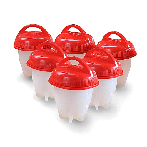 6pcs/set Egg Cooker Non Stick Silicone Hard Soft Maker Boiled Eggs Without The Shell