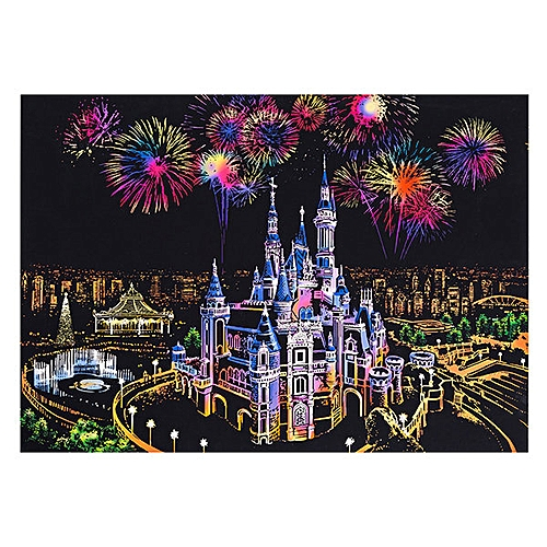 DIY Painting Scratch Scraping Drawing Paper World Sightseeing Pictures Creative Gift Home Decor