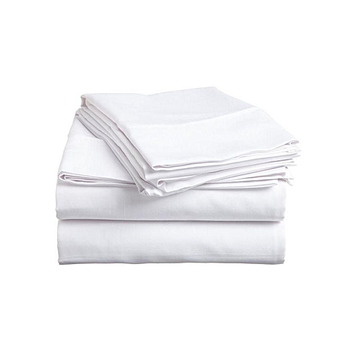 White Bed Sheet - 2 Sets With 12 Pillow Cases
