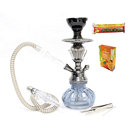 Generic Black Shisha Hookah Pot + Magic Coal And Shisha Flavour