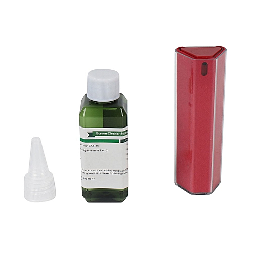 Screen Cleaner Cleaning Kit For Mobile Phone Computer Screen Integrated Spray Red
