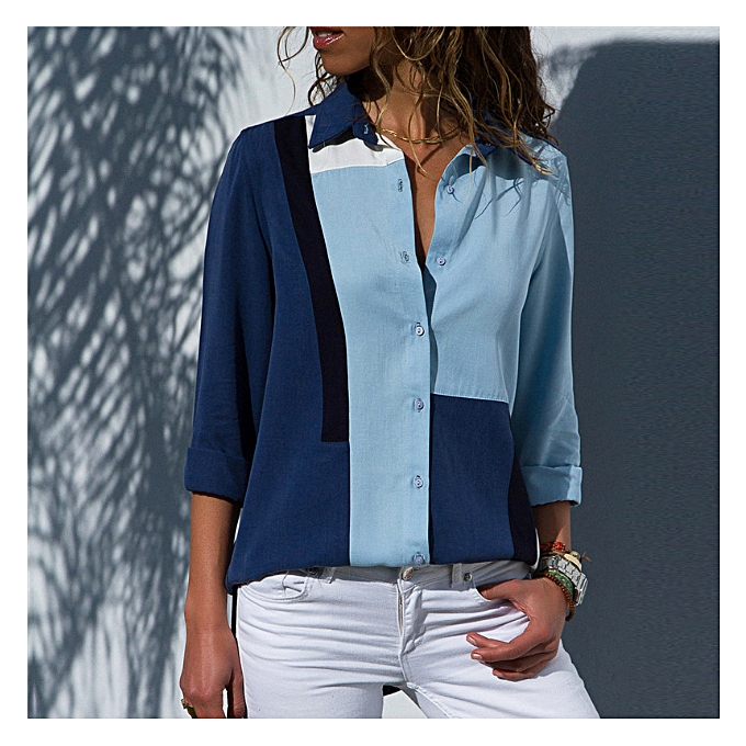 4606a1c25edf34 Women Blouses Fashion Office Shirt Chiffon Blouse Shirt Casual Tops Plus  Size Blusas Femininas