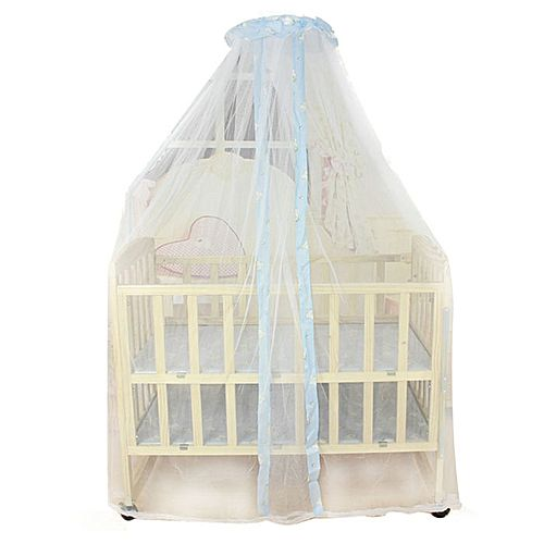 Summer Baby Bed Mosquito Mesh Dome Curtain Net For Toddler Crib Cot Canopy Blue