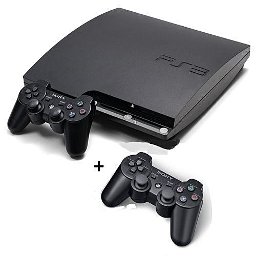 PS3 Slim Console 500GB + 2 Controllers & 21 Latest Games Includes FIFA 18 & PES 2018 Downloaded Inside