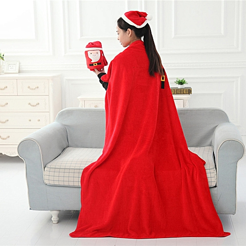 Xiuxingzi_Dtrestocy Christmas Soft XMAS Sofa Bed Blanket Decoration Christmas Gift Warm Blanket