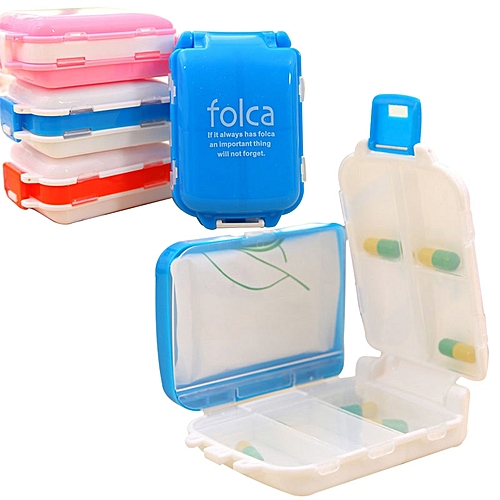 Plastic Pill Box 3-Layers 8 Girds Portable Medicine Storage Case