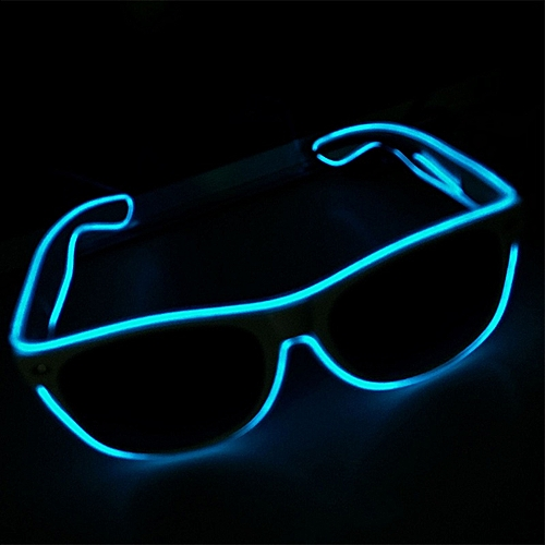 New 8 Modes Quick Flash LED Party Glasses USB Charge Luminous Glasses Christmas Party Supplies Concert Light Toys Dropshipping