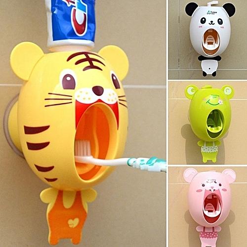 Cute Cartoon Animals Design Set Cartoon Bathroom Household Toothbrush Holder Automatic Toothpaste Dispenser Toothpaste For Kids