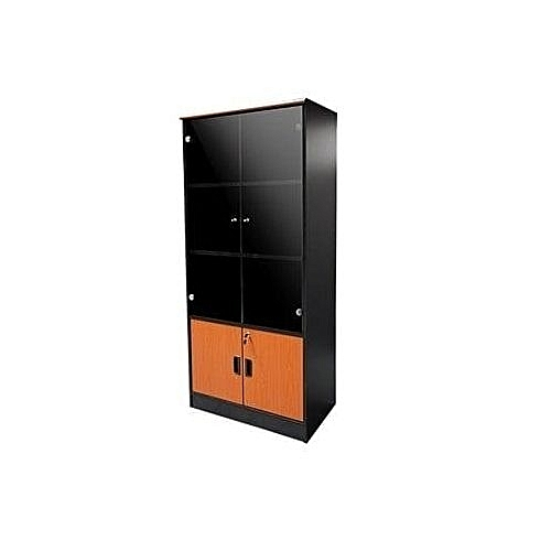 Glass Book Shelf-Full Height File Cabinet (Lagos Orders Only)