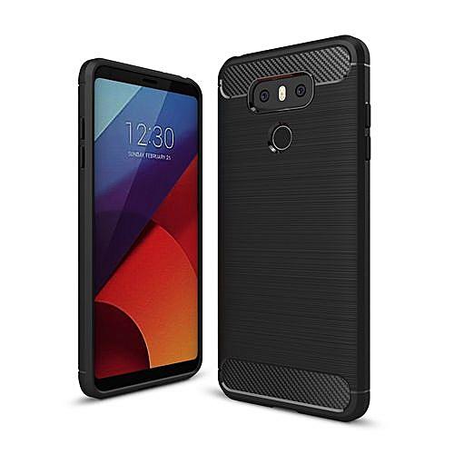 the best attitude 4c456 c49c5 LG G6 Case, Thin TPU Bumper Carbon Fiber Cover For LG G6