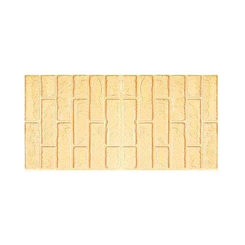 Jummoon Shop 3D Wall Paper Brick Stone Rustic Effect Self-adhesive Wall Sticker Home Decor