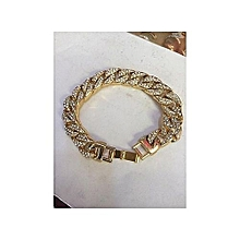 Iced Cuban Men's Bracelets- Gold