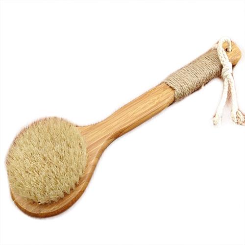 Honana BX Natural Bristle Cleaning Brushes Long Anti-slip Wooden Handle Body Brush Massage