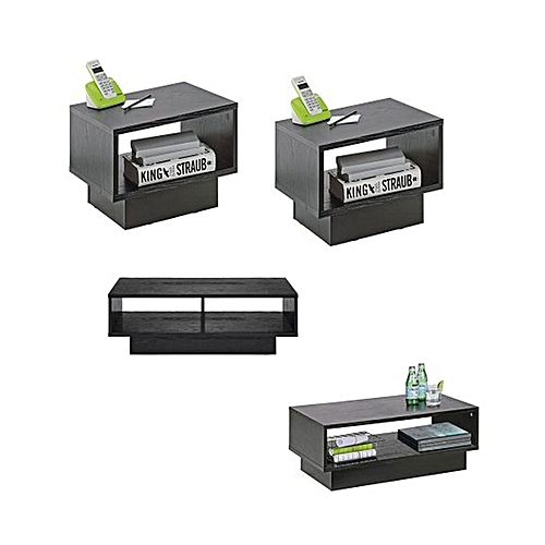 Nicole Living Room Set - Black (Delivery Within Lagos Only)