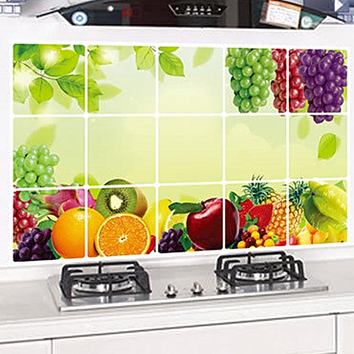 generic anti-oil stickers wall stickers kitchen tiles aluminum foil