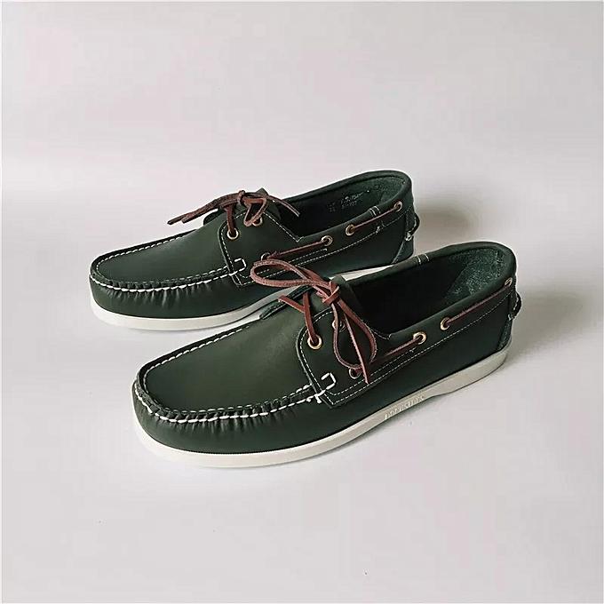 f42b1396f7 Sebago Sebago Men's Leather Stylish Lace-Up Loafers - Green | Jumia NG