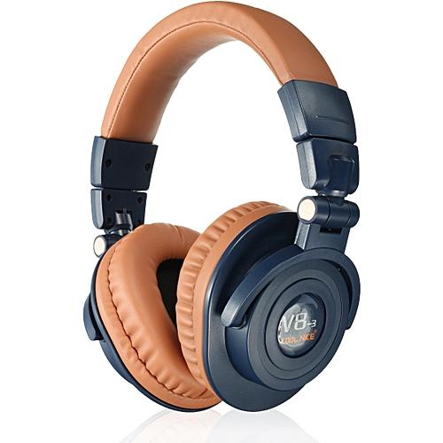 Cool Nice Foldable Wireless Bluetooth Super Bass Stereo Headphone Headset Mic For IPhone Brown - JaraCash