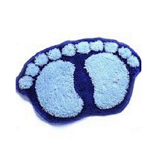 Fluffy Footprint Foot Mat