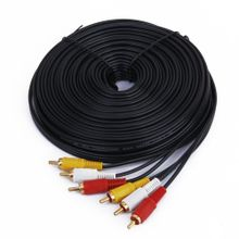 Fifty Ft 3 Video Audio RCA Composite Cable For HDTV DVD VCR